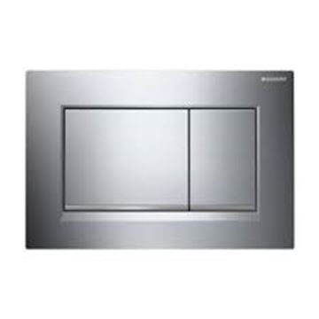 Picture of Geberit  flush plate Sigma30 for dual flush: gloss chrome-plated, matt chrome-plated