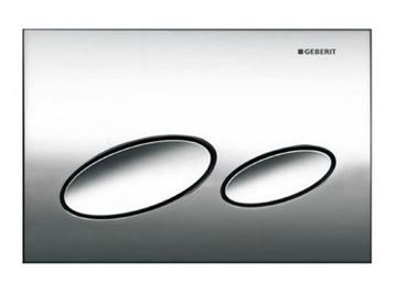 Picture of Geberit  flush plate Kappa20 for dual flush: gloss chrome-plated