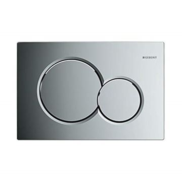 Picture of Geberit  flush plate Sigma01 for dual flush: gloss chrome-plated