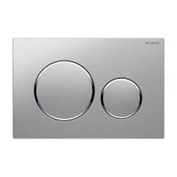 Picture of Geberit  flush plate Sigma20 for dual flush: gloss chrome-plated, matt chrome-plated