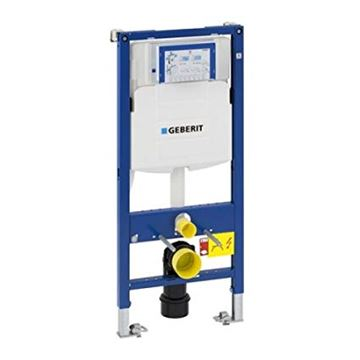 Picture of Geberit  Duofix frame for wall-hung WC, 112 cm, with Sigma concealed cistern 12 cm, wall anchoring and connection bend