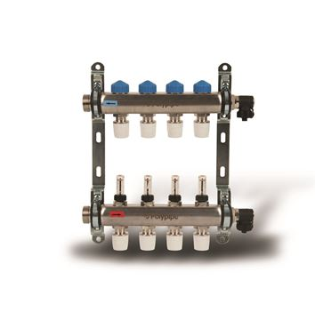 Picture of Polyplumb  15mm Stainless Steel 4 Port UFH Manifold
