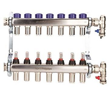 Picture of Polyplumb  15mm Stainless Steel 7 Port UFH Manifold
