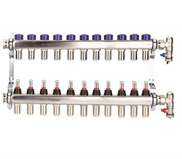 Picture of Polyplumb  15mm Stainless Steel 11 Port UFH Manifold
