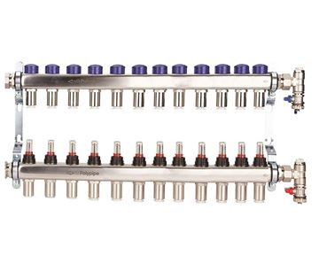 Picture of Polyplumb  15mm Stainless Steel 12 Port UFH Manifold
